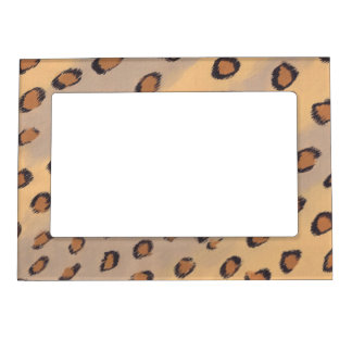 Leopard Spots Painting Frame Photo Magnets