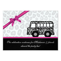 Leopard Spots Party Bus Card