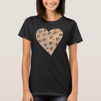 Leopard Spots Pattern in a Heart Shape Shirts