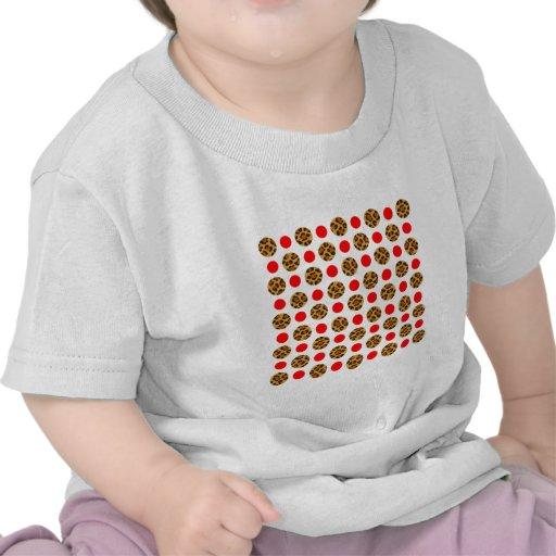 leopard spots pattern in polka-dots t shirts