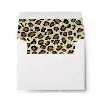 Leopard Spots Pattern Inside Personalized Envelope