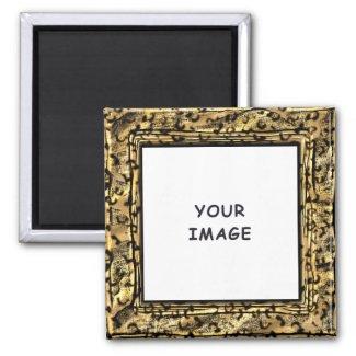 Leopard Spots Photo Frame Magnet magnet