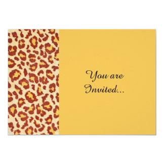 Leopard Spots Ultrasuede Look 5x7 Paper Invitation Card