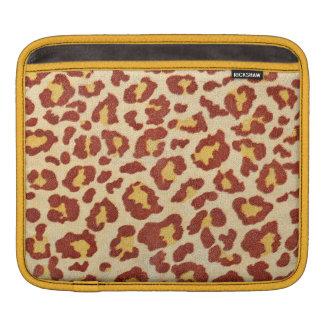 Leopard Spots Ultrasuede Look Sleeves For iPads