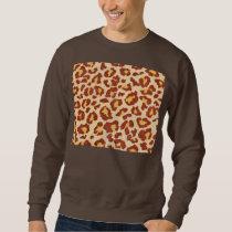 Leopard Spots Ultrasuede Look Sweatshirt