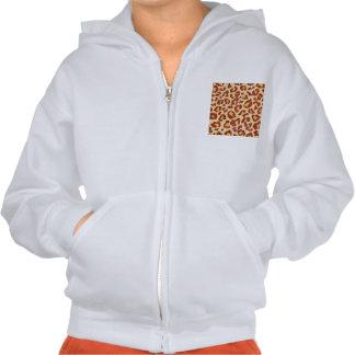 Leopard Spots Ultrasuede Look Hoody
