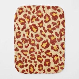 Leopard Spots Ultrasuede Look Baby Burp Cloths