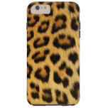 Leopard Spotted Faux Fur, African Cat Photo-sample Tough iPhone 6 Plus Case