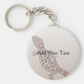 Leopard Spotted Gecko on Sand Key Chain