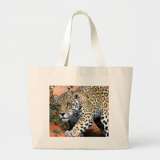 Leopard Stalking Macro Canvas Bag