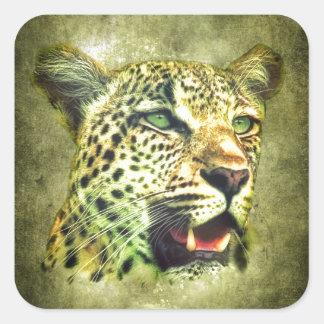 Leopard Square Sticker