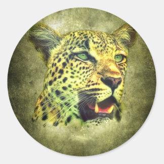 Leopard Classic Round Sticker