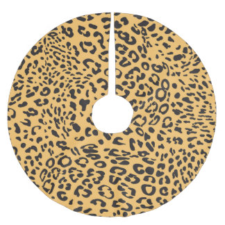 Leopard Texture Brushed Polyester Tree Skirt