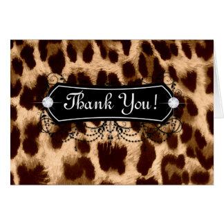 Leopard Thank You Card Jewelry Fashion