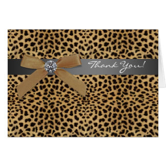 Leopard Thank You Cards Note Card