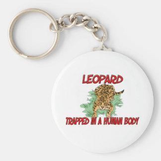 Leopard trapped in a human body keychains