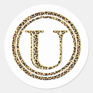 Leopard U Classic Round Sticker
