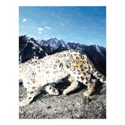 leopard walking customized letterhead