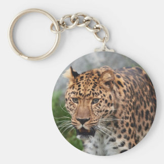 Leopard Walking Wild Keychain
