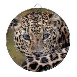 Leopard watching you dart board