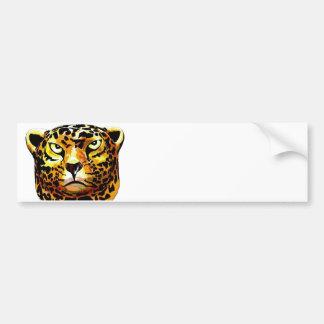 Leopard - White Back, Style 1 (l4poz) Bumper Sticker