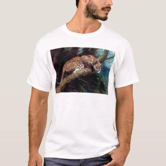leopard wild cat animal antique painting T-Shirt