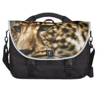 Leopard Wild Cat Spots Destiny Nature Safari Laptop Messenger Bag