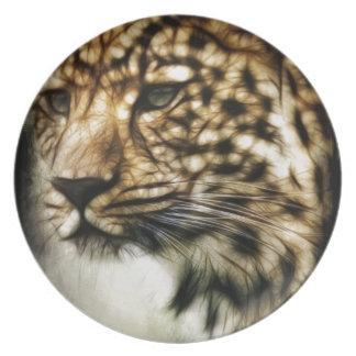 Leopard Wild Cat Spots Destiny Nature Safari Party Plate