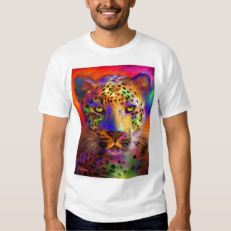 leopard wild life picture painting T-shirt