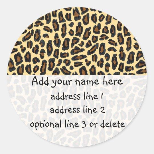 Leopard Wild Thing return address labels