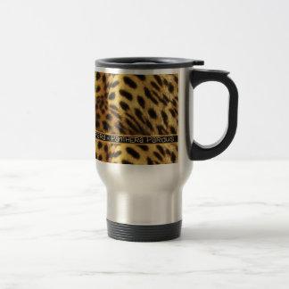Leopard wildlife safari commuter travel mugs cups