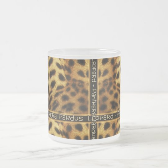 Leopard wildlife safari frosted mugs & cups