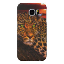 Leopard with Sunset Samsung Galaxy S6 Case