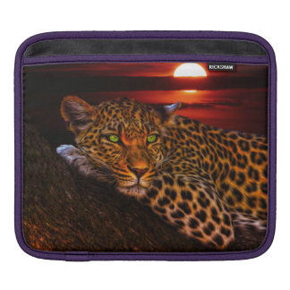 Leopard with Sunset Sleeve For iPads