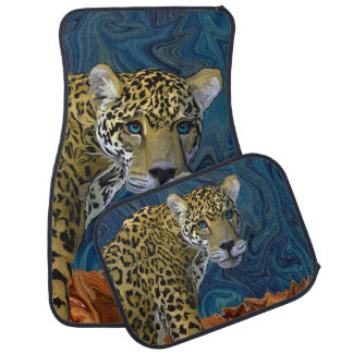Leopard with the Sky in His Eyes Car Floor Mat