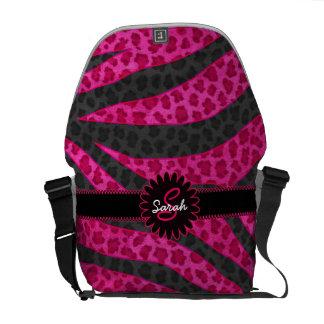 Leopard Zebra Monogram Messenger Bags