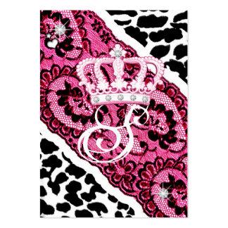 leopardo 311-Lacy y tiara Tarjeta De Visita
