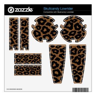 Leopardo adaptable de madera de la MOD Skullcandy Lowrider Calcomanía