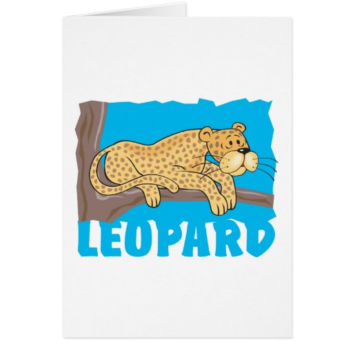 Leopardo amistoso del niño felicitación
