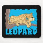 Leopardo amistoso del niño tapetes de ratón