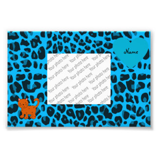 Leopardo anaranjado conocido personalizado del azu arte fotografico