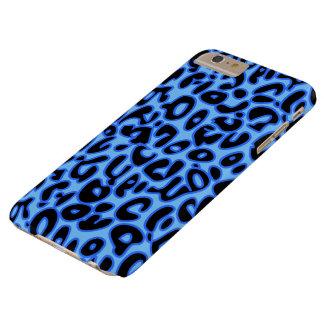 Leopardo azul funda de iPhone 6 plus barely there