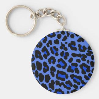 Leopardo azul llaveros personalizados