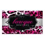 Leopardo barroco de 311 rosas fuertes del boutique tarjeta de visita