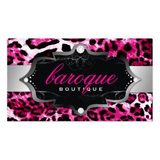 Leopardo barroco de 311 rosas fuertes del boutique tarjetas de visita