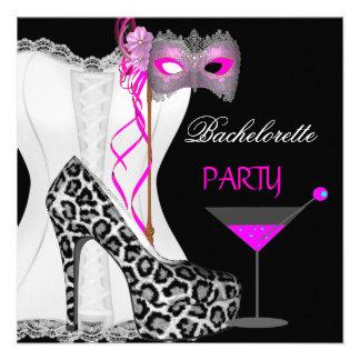 Leopardo blanco del rosa del corsé del fiesta de B Comunicado Personal