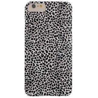 Leopardo blanco y negro funda de iPhone 6 plus barely there
