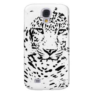 Leopardo blanco y negro funda para galaxy s4