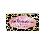 Leopardo Bodacious del boutique 311 Etiquetas De Dirección