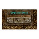 Leopardo Brown azul H de la tarjeta de visita del